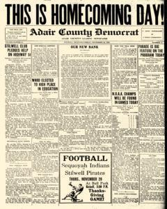Adair County Democrat newspaper archives