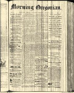 Morning Oregonian, August 31, 1861, Page 1