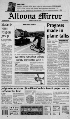 Altoona Mirror, April 06, 2001, Page 2