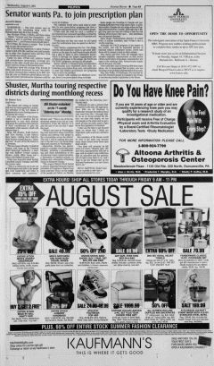 Altoona Mirror, August 08, 2001, Page 14