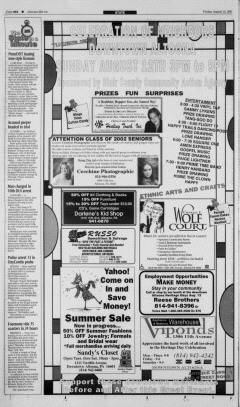 Altoona Mirror, August 10, 2001, Page 20