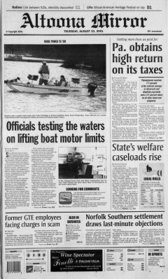 Altoona Mirror, August 23, 2001, Page 2