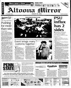Altoona Mirror, August 26, 2001, Page 1