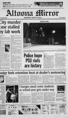 Altoona Mirror, August 29, 2001, Page 2