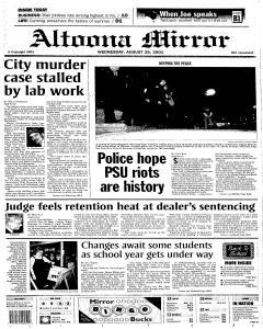 Altoona Mirror, August 29, 2001, Page 1