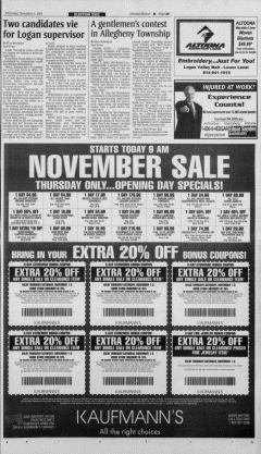 Altoona Mirror, November 01, 2001, Page 9