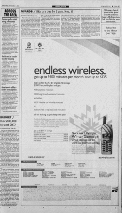 Altoona Mirror, November 01, 2001, Page 13