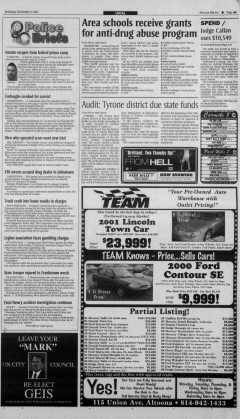 Altoona Mirror, November 03, 2001, Page 10