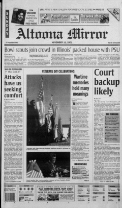 Altoona Mirror, November 11, 2001, Page 2