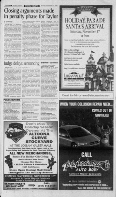 Altoona Mirror, November 11, 2001, Page 20