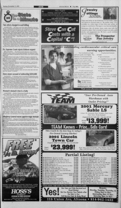 Altoona Mirror, November 11, 2001, Page 22