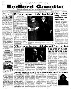 Bedford Gazette, February 15, 2001, Page 1