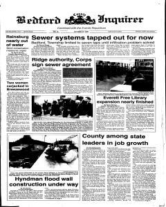 Bedford Inquirer, October 30, 1998, Page 1
