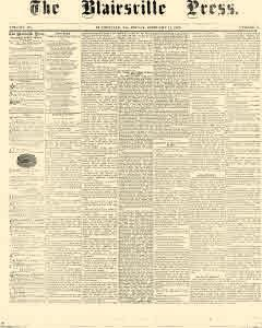 Blairsville Press, February 12, 1869, Page 1