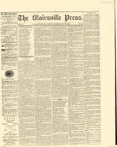 Blairsville Press, February 21, 1869, Page 1
