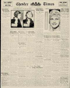 Chester Times, January 16, 1933, Page 1