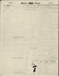 Chester Times, January 26, 1933, p. 6