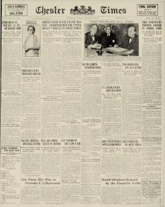 Chester Times, February 10, 1933, Page 1
