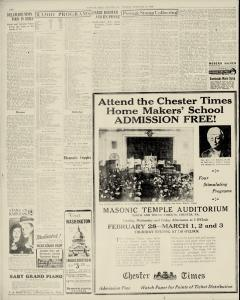 Chester Times, February 21, 1933, p. 10