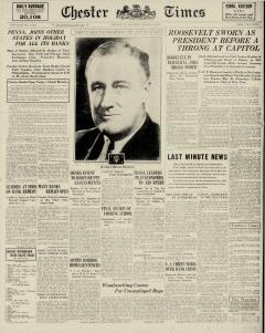 Chester Times, March 04, 1933, Page 1