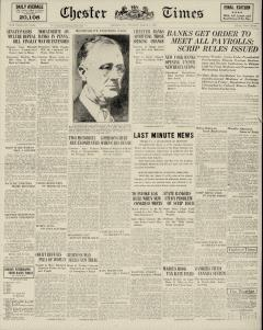 Chester Times, March 07, 1933, Page 1
