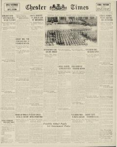 Chester Times, March 31, 1933, Page 1