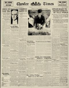 Chester Times, May 17, 1933, Page 1