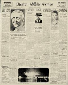 Chester Times, May 29, 1933, Page 1