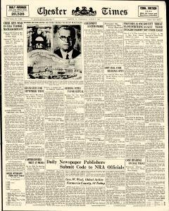 Chester Times, August 09, 1933, Page 1