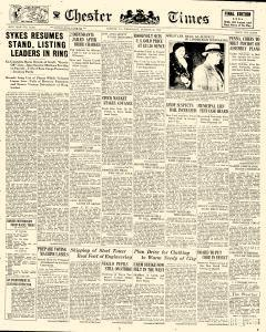 Chester Times, October 25, 1933, Page 1
