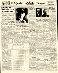 Chester Times, November 08, 1933, Page 1