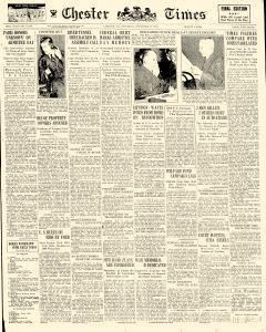 Chester Times, November 11, 1933, Page 1