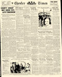 Chester Times, November 22, 1933, Page 1