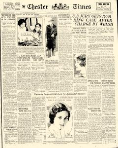 Chester Times, November 23, 1933, Page 1