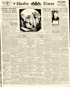 Chester Times, December 06, 1933, Page 1