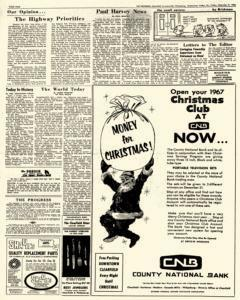 Clearfield Progress, December 09, 1966, Page 4