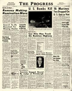 Clearfield Progress, December 10, 1966, Page 1