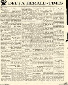 Delta Herald Times, December 07, 1933, Page 1