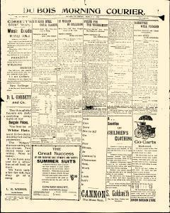 Dubois Morning Courier, August 08, 1902, Page 1