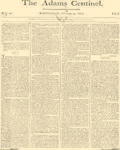 Adams Centinel, February 04, 1801, Page 1