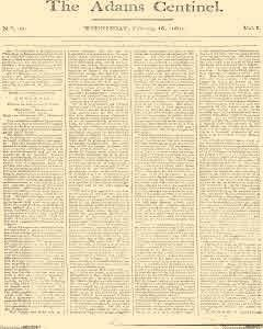 Adams Centinel, February 18, 1801, Page 1