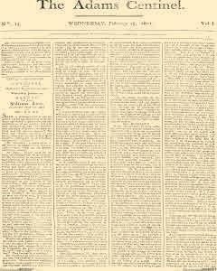 Adams Centinel, February 25, 1801, Page 1