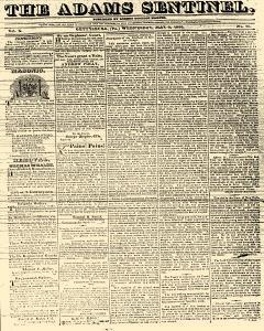 Adams Sentinel, May 03, 1826, Page 1