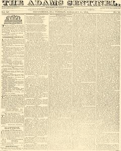 Adams Sentinel, February 15, 1831, Page 1
