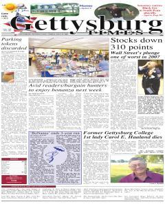 Gettysburg Times, July 27, 2007, Page 1