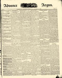 Advance Argus, January 05, 1888, Page 1