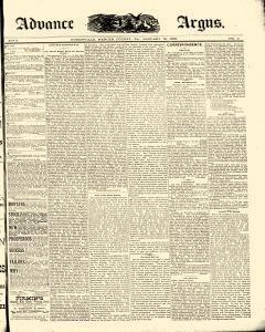 Advance Argus, January 12, 1888, Page 1