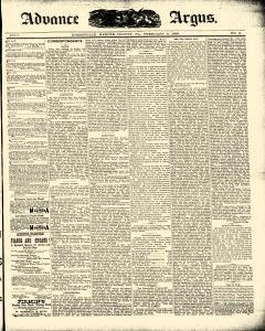 Advance Argus, February 09, 1888, Page 1