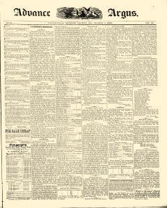 Advance Argus, March 08, 1888, Page 1