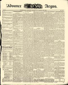 Advance Argus, March 29, 1888, Page 1